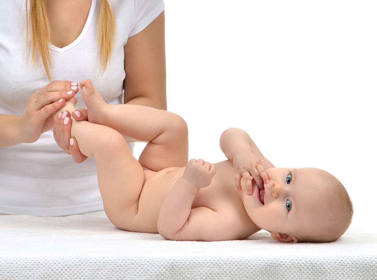 Массаж ребёнку в 6 месяцев