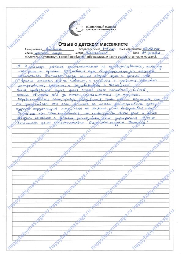 Массаж младенцам м. Алексеевская, СВАО, Алексеевский район