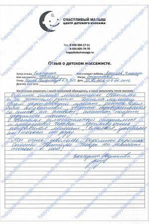 Детский массаж на дому Сходненская, СЗАО, район Тушино