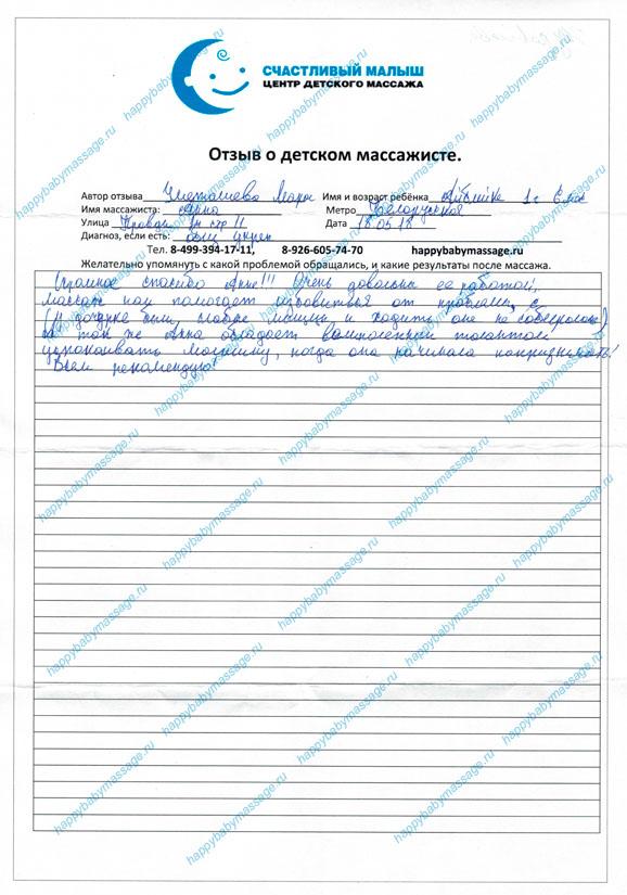 Отзыв Гаврилова