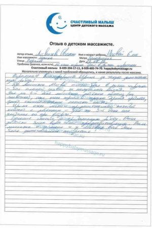 Массаж для грудничка Белорусская улица Верхняя