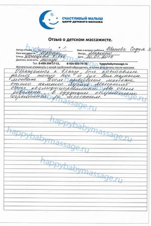 Массаж новорожденному в Марьино улица Донецкая